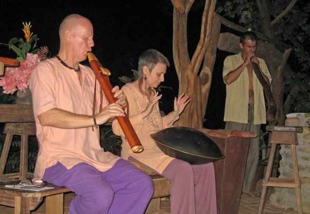Samjjana performing at outdoor rainforest event in Costa Rica