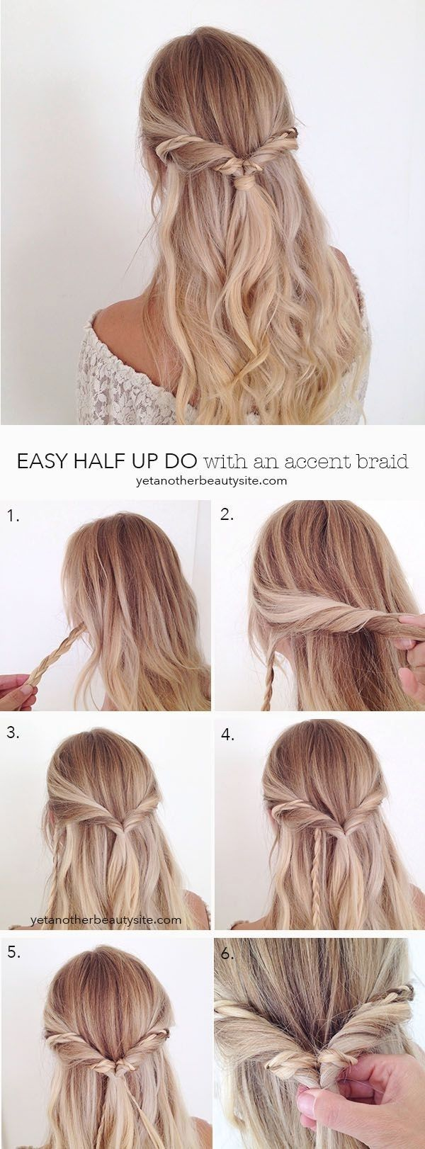 Easy But Pretty Hairstyles Fade Haircut Simple Prom Hair Hair Styles Long Hair Styles