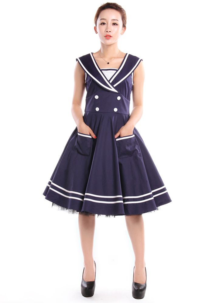 50s Rockabilly Sailor Swing Dress by Amber Middaugh  http://www.chicstar.com/storefront/protoDetail.aspx?idProto=1669