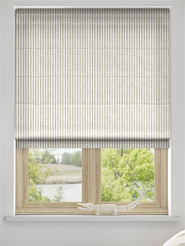 Pure Linen Stripe Roman Blind from Blinds 2go