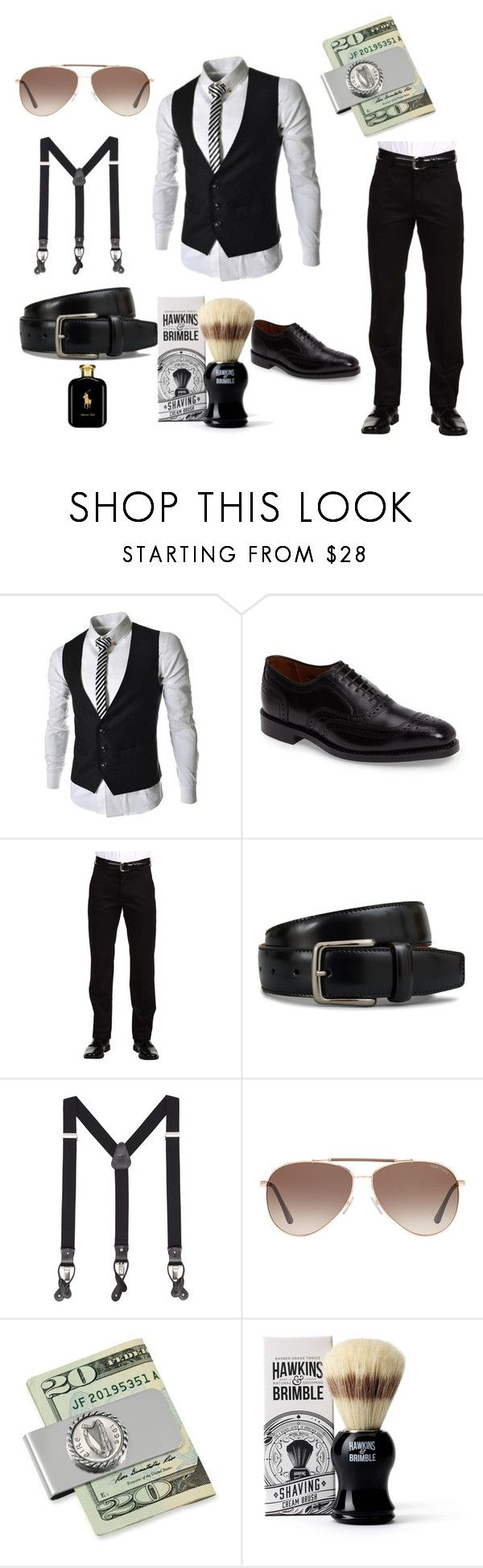 """Something Delicious"" by marguerite-dillworth on Polyvore featuring Allen Edmonds, Dockers, Tod's, MANGO MAN, Tom Ford, American Coin Treasures, Hawkins & Brimble, Polo Ralph Lauren, men's fashion and menswear"