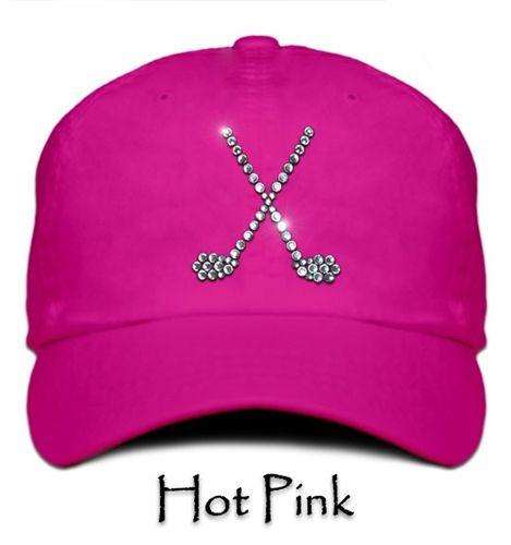 Titania Golf Bling Caps - Crossed Club Rhinestone Cap.  Buy it @ ReadyGolf.com