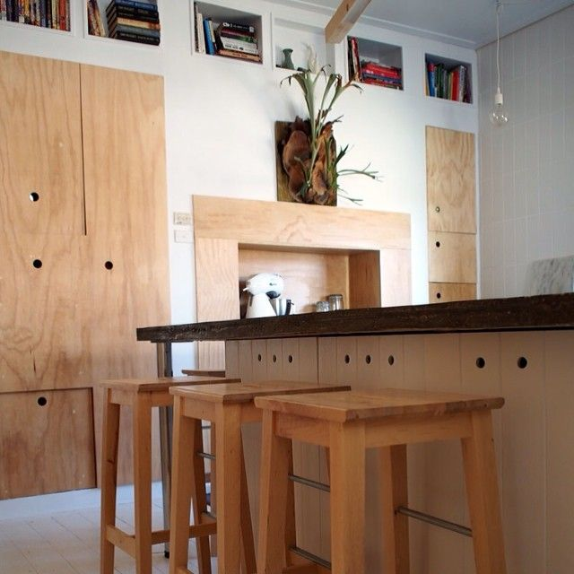 ikea cabinets with custom plywood fronts unique