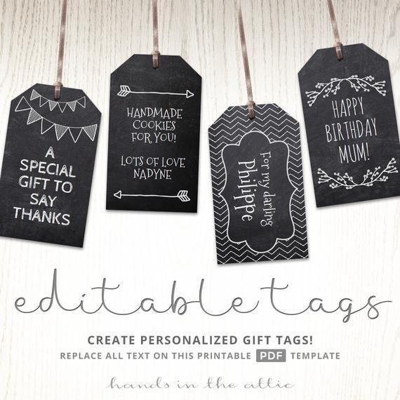 Chalkboard Gift Tags Heidi Swapp Minc Ideas Gift Tags