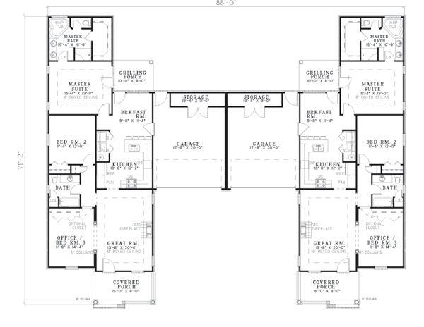 79 best multi family units images on pinterest floor for 4 unit multi family house plans