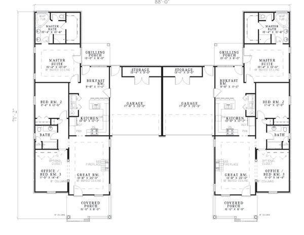 79 best images about multi family units on pinterest 2nd for Duplex units