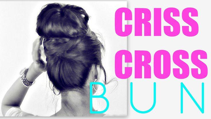 ★EASY BUN HAIRSTYLES  CRISS CROSS UPDOS FOR MEDIUM LONG HAIR TUTORIAL   SCHOOL, PROM, WEDDING STYLES