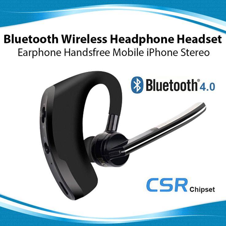 Bluetooth Wireless Headphone Headset Earphone Handsfree Mobile iPhone Stereo