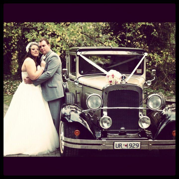 #wedding #bride #groom #reception #weddingreception #loveit #chateauwyuna #happycouple #congratulations #vintagecar #pose #greysuit #mrandmrs