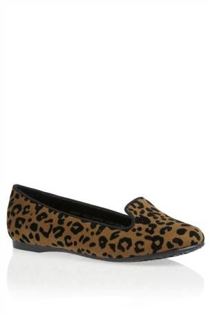 Tan Animal Print Slippers (Older Girls)