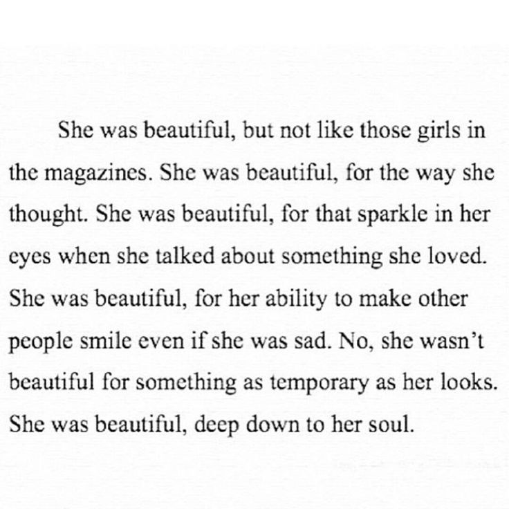 She Was Beautiful But Not Like Those Girls In The Magazines