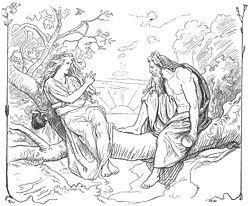 """Saga (isländska Sága, möjligen """"den som ser"""") är en asynja i nordisk mytologi. I """"Sången om Grimner"""" berättas att Oden gärna kommer och besöker Saga i hennes boning Sökkvabäck (""""Sjunkabäck"""", """"djupets bänk""""), där de dricker härliga drycker ur hennes gyllene kärl där svala vågor sägs brusa stilla. Enligt Snorre är hon ett fristående väsen som ingick i Odens maka Friggs heliga systerskap av asynjor. Som seendets gudinna kan hon mycket väl vara identisk med Frigg då Oden och Frigg sitter…"""