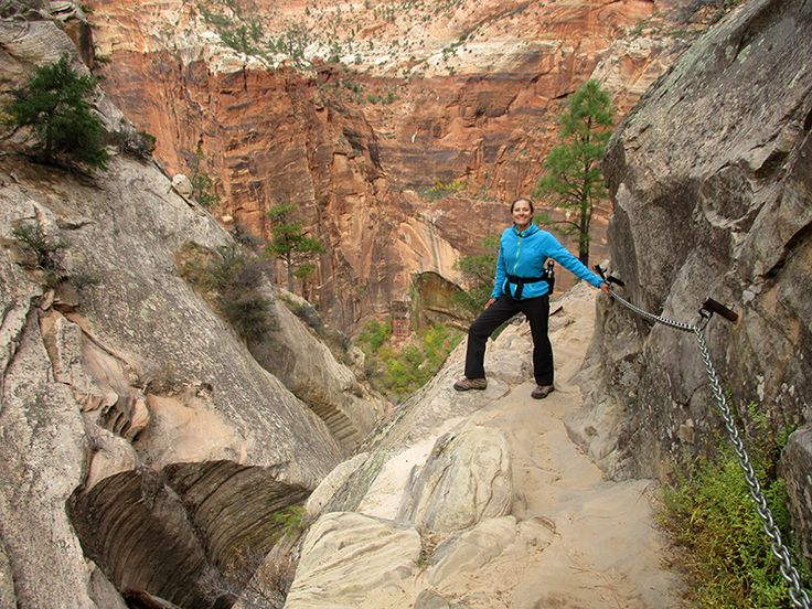 Christi on Zion National Park's Hidden Canyon Trail Zion