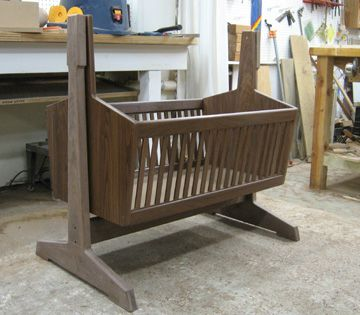 Cradle, a Tutorial with Plans. Just like the one my dad made for my son, the first grandchild. Has been passed around the family to be used for many babies! He would love knowing great grandchild #3 is about to use it! ♥ #woodworking