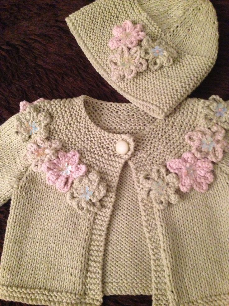 3-6 month old girl jacket and matching beanie