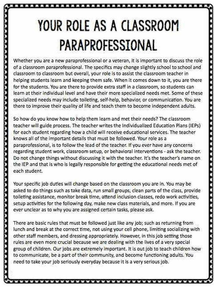 147 best paraeducator  paraprofessional images on pinterest