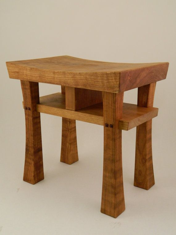 Medium Asian Style Stool Bench Seat  Made to Order by Madsens, $155.00