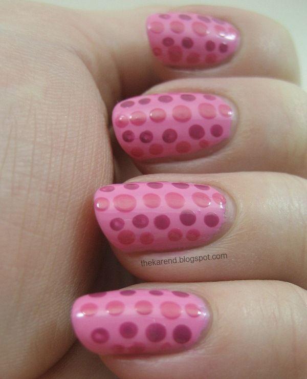 Pink Nails, Dots: Nails Art, Nails Maniac, Körmök Nails, Dots Manicures, Beaches Nails, Nails Dots, Heart Polka, Dots Nails, Nail Art