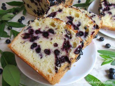 Obżarciuch: Ciasto cytrynowe z jagodami