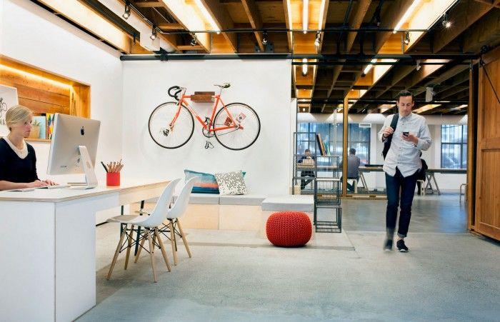 Bois et design dans les nouveaux bureaux de la start-up Postmates