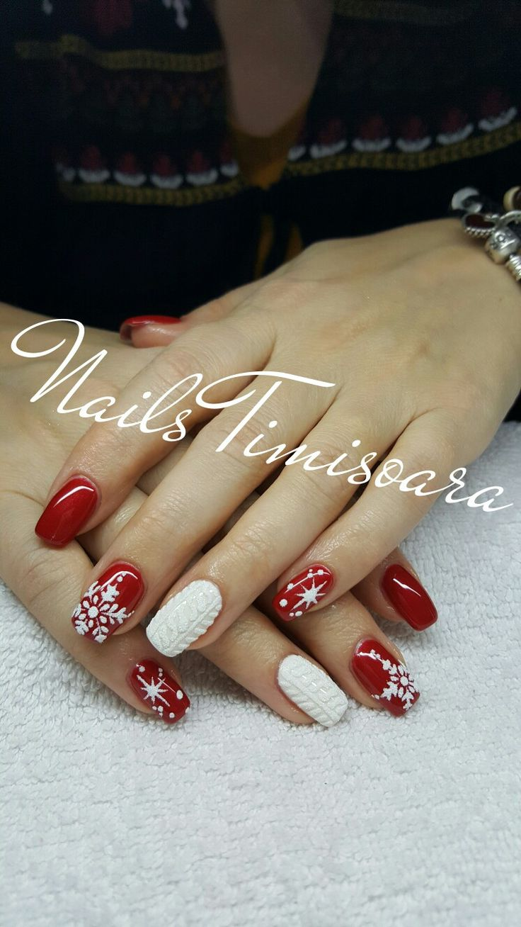 #nails #winter #snowflake #christmas
