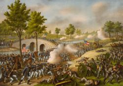 The Battle of Antietam on September 17, 1862 — the single bloodiest day of the Civil War and all of American military history, with nearly 23,000 casualties.
