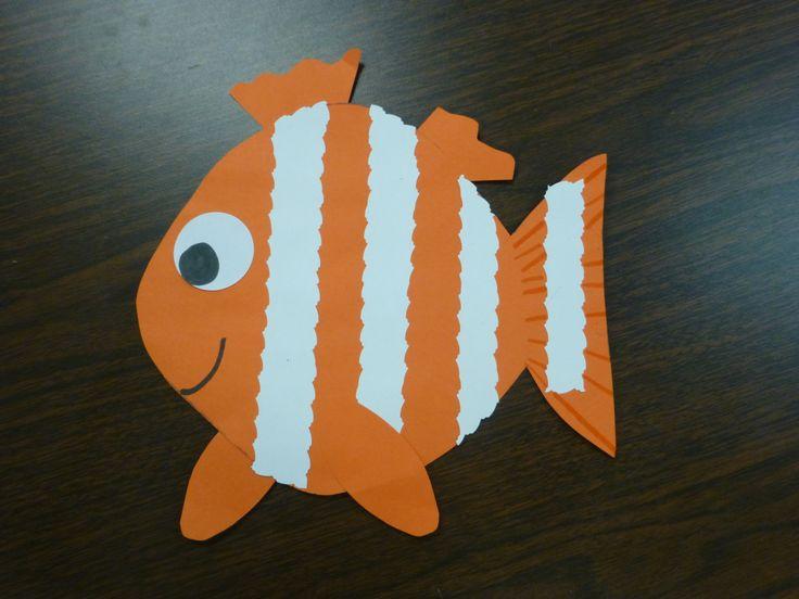 Clown fish or nemo craft kids crafts activities for Fish activities for preschoolers