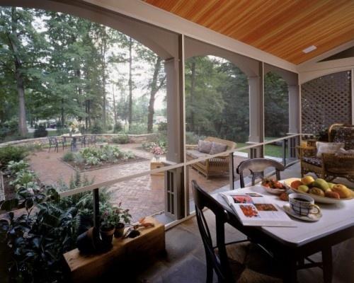 Lake property: Patio Design, Back Patio, Screens Porches, Witt Construction, Brick Patio, Porches Design, Traditional Porches, Patio Ideas, Screened Porches