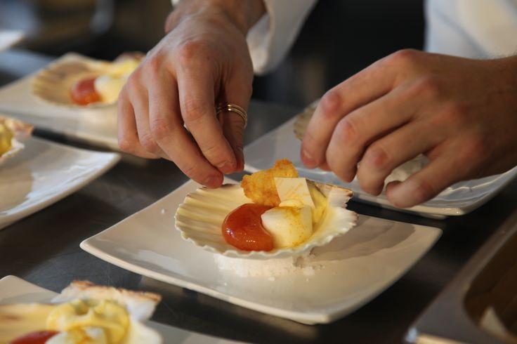 Chef Alessandro Fumagalli  Cappasanta caramellata