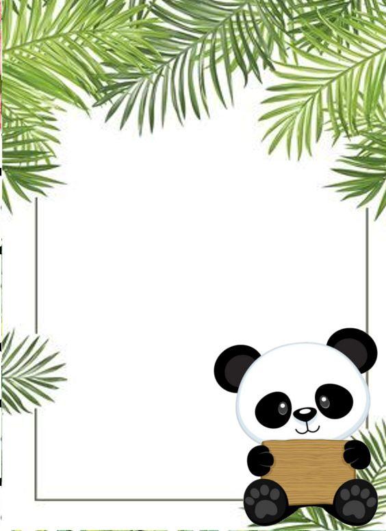20 Convites Do Panda Para Imprimir Aiden De 2019