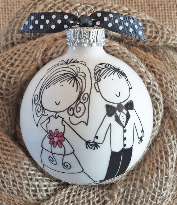 BRIDE AND GROOM ORNAMENT: A truly unique, one-of-a-kind keepsake gift for your favorite bride and groom that will be cherished for a lifetime.