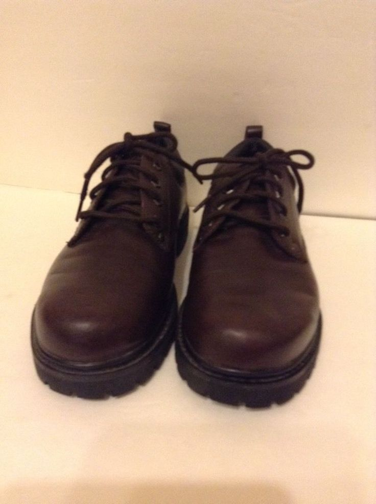 Skechers Men's Brown Leather Shoes 9 Medium M | eBay