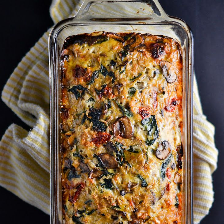 Mushroom Spinach And Brown Rice Loaf Recipe Recipes