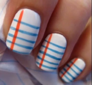 77 best nails images on pinterest make up nail designs and couture how to do notebook paper nail art notebook nails prinsesfo Image collections