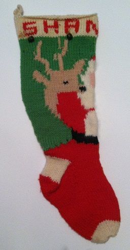 120 best Knitted Christmas Stockings images on Pinterest   Knitted ...