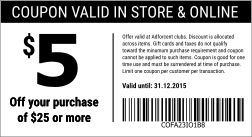 Print coupons on your receipts.