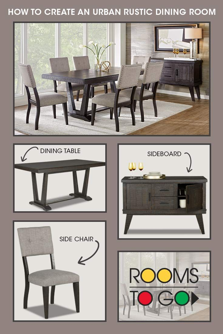 Dine In Style With Your New Dining Room From Rooms To Go Whether Your Style Is Urban Rustic Dining Room Rustic Dining Room Sets Dining Room Remodel