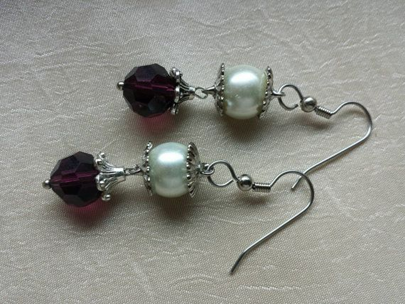 Check out this item in my Etsy shop https://www.etsy.com/listing/233283970/february-birthstone-amyethyst-earrings