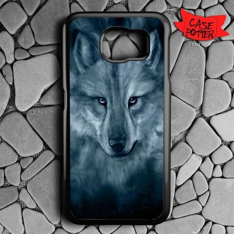 Wolf Painting Samsung Galaxy S6 Black Case