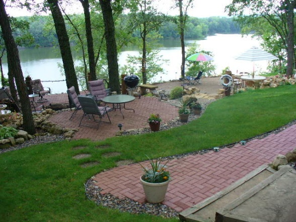 83 best gardens images on pinterest gardening backyard for Lakefront landscaping photos