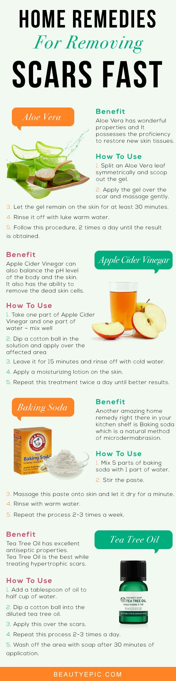 Most Effective Home Remedies for Removing Scars Fast