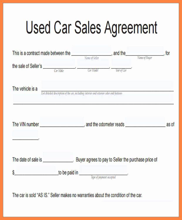 Contract For Selling A Car New How To Write A Contract For Selling