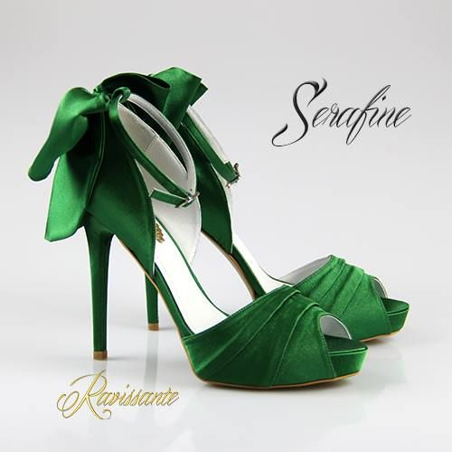 Save the date.... and save the shoes <3 . Royal green - perfect for a pop of color!