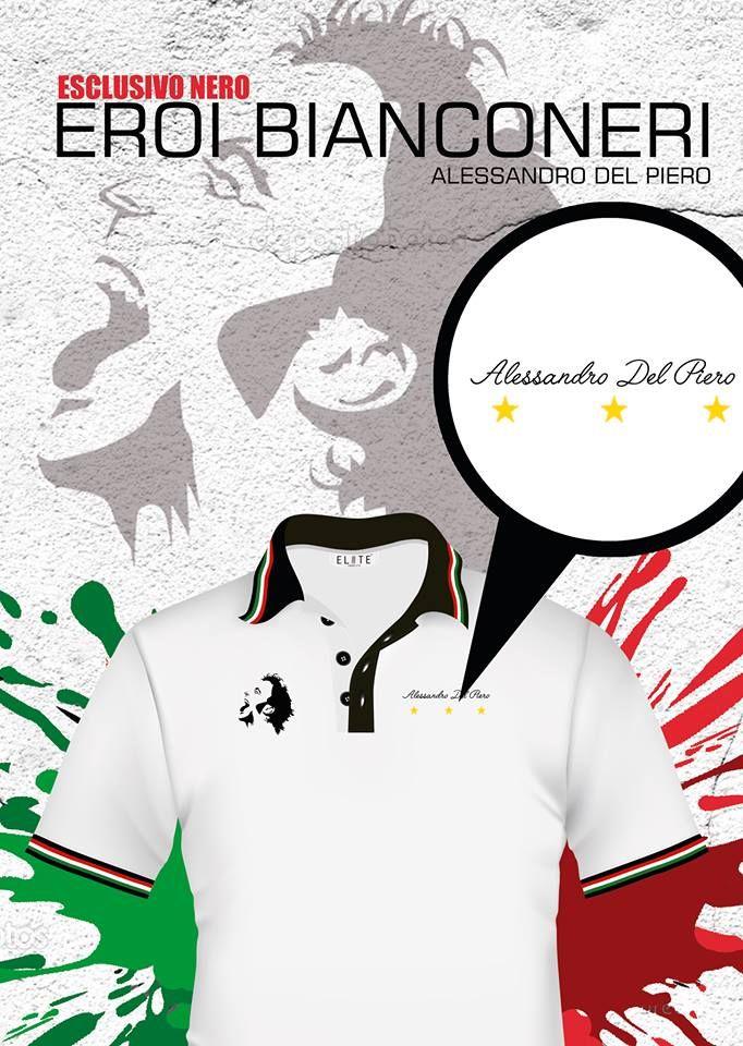 Juve Polo Style, el héroe más grande en la historia del club, el gran ALESSANDRO DEL PIERO, envíos a todo el país.
