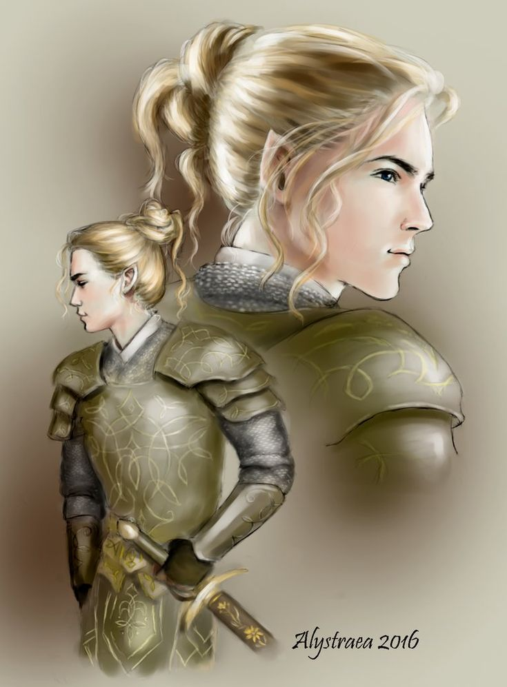 Glorfindel With Battle Hair by alystraea if only he had worn it like this