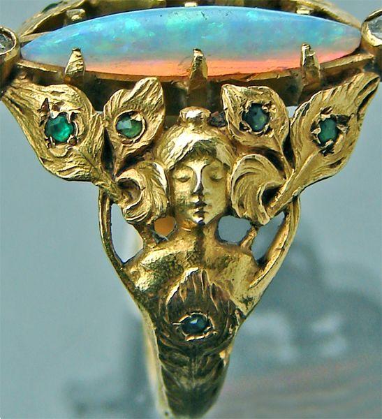 Antiques Rings : Art Nouveau, Art Deco, Arts & Crafts Jewelry : Jewellery