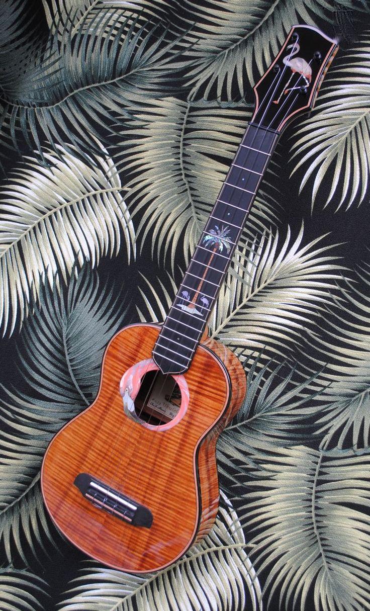 16 best miscellanea musica images on pinterest guitars flamingo themed curly koa concert ukulele by moore bettah ukes hexwebz Image collections
