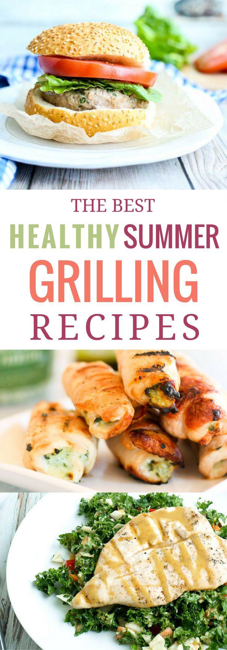 If you're looking for something different than burgers and hot dogs to try on the grill this summer, definitely check out these healthy summer grilling recipes. Every recipe is quick, easy and family-friendly. My family loves the grilled salmon, grilled c