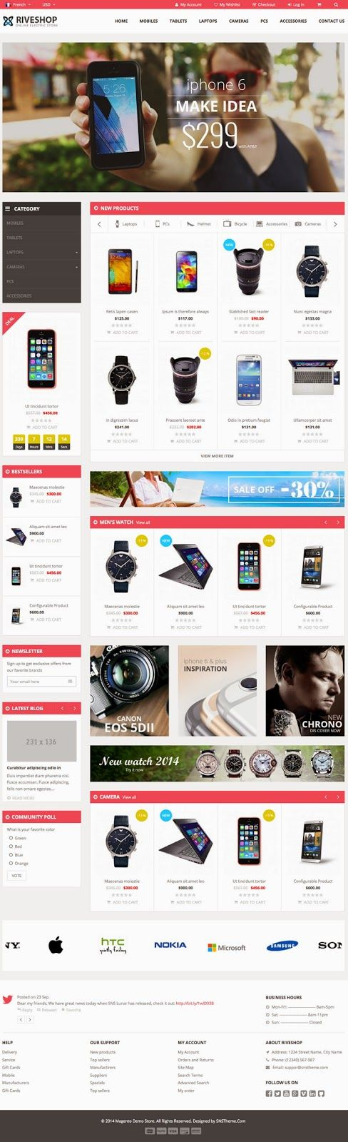 New Premium Magento Theme #eCommerce #website #design