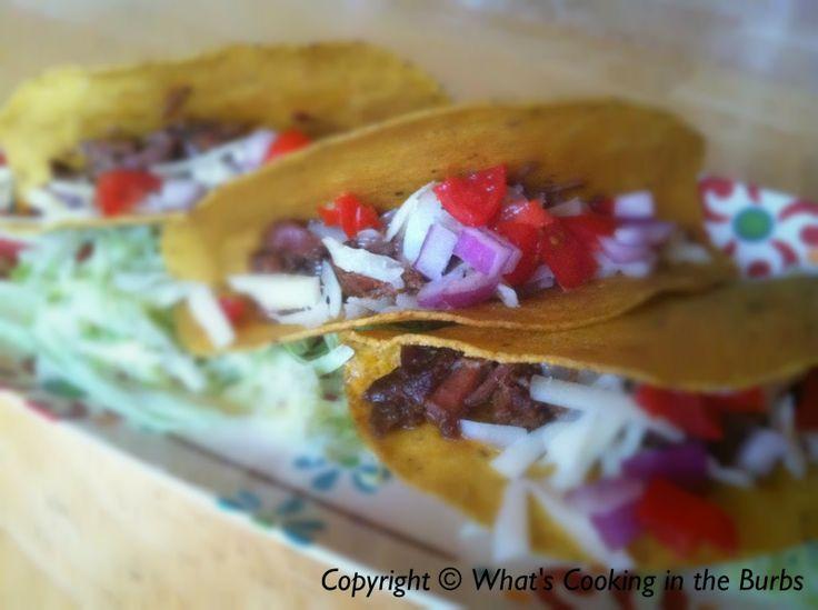 Crock Pot Beef Tacos In Soft Tortilla Bread Recipe — Dishmaps